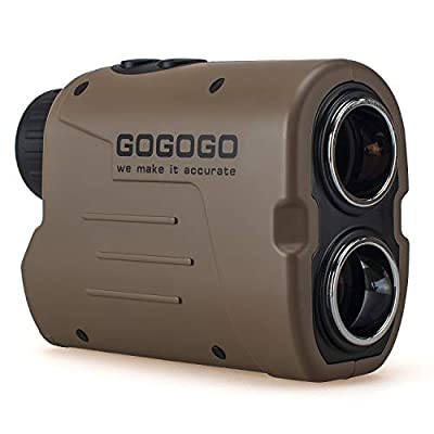 Gogogo Sport Laser Golf & Hunting Rangefinder 1200 Yards 6X Magnification Laser Range Finder with Pin-Seeker & Flag-Lock