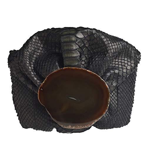 Malababa Bolsos de Mano de Mujer Nanohontas en Piel de Phyton Tipo Clutch en Color Negro
