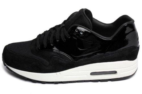Nike Womens Air MAX 1 Vac Tech Patent Black Trainer Size 8.5 UK