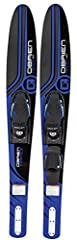Length 65. 5 inch/166cm Plastic fin X-7 adjustable bindings (one ski has rear toe piece) Foot size: Men's 4. 5-13 Wide body for stability