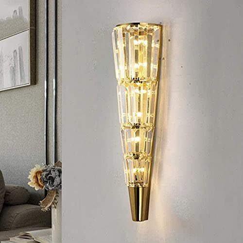 N/Z Home Equipment Modern Creative Luxury Wall Light Living Room TV Wall Bedroom Bedside Aisle Rectangular Crystal Wall Lamp Decoration Lamps