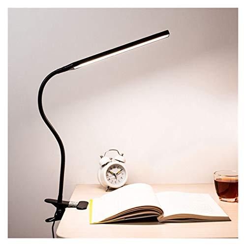 LED 360 ° Lámpara plegable de la lámpara de escritorio de la lámpara de ojo de la lámpara de mesa recargable en la luz para la lectura de la cama trabajando y las computadoras (Body Color : Black)