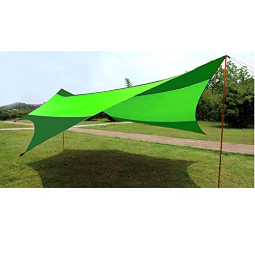 Sun Sail Shade Dovetail Outdoor Awning Waterproof Awning Shade Protection Outdoor Canopy Garden Patio Swimming Pool Awning Easy to Use (Color : Fruit Jasper green, Size : 550x560cm)