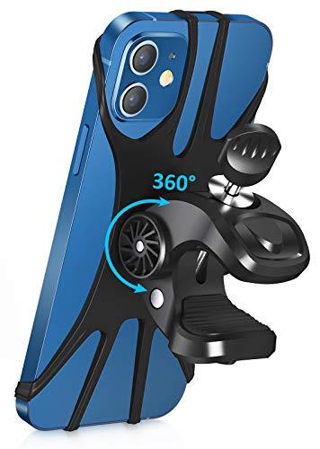 Cocoda Soporte Móvil Bicicleta, Soporte Movil Moto, Rotación 360° Ajustable Universal Montaje para Manillar de Bicicleta Compatible con iPhone 12 Pro/12 Mini/iPhone 11 Pro MAX, Samsung- 4.7'' - 6.5''