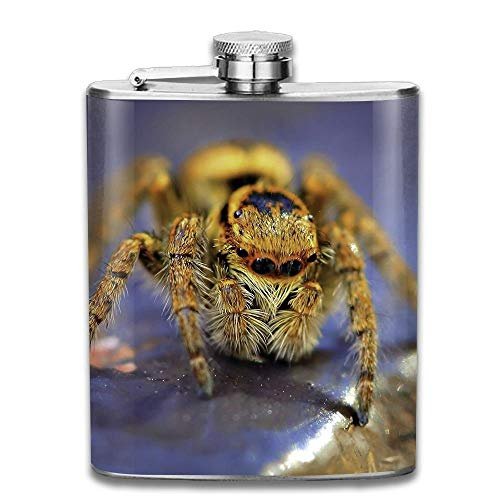 iuitt7rtree Spider Pocket Leak Proof Liquor Hip Flask Alcohol Flagon 304 Stainless Steel 7OZ Gift Box Outdoor