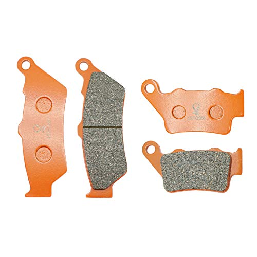 Lefossi Front Rear Carbon Fiber Brake Pads Brakes for BMW G 650 XChallenge XCountry 07-09 G650GS G 650 GS 2009-2016 F 650 GS 2007 2008 2009 2010 2011 2012 F 650 ST F 650 CS FA209F FA213R