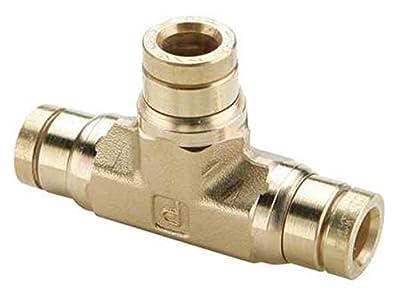 "Parker Brass Union Tee Prestomatic Fitting, 1/2"" Push-to-Connect Tube x 1/2"" Push-to-Connect Tube"