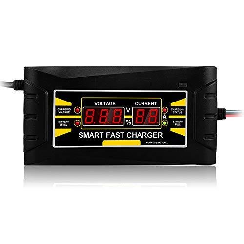 KKmoon Coche Cargador de Baterías Automáticos150V / 250V a 12V 6A, Cargador Pantalla LCD Digital de ácido de Plomo Seco y Húmedo