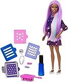 Barbie Chioma Multicolore,con Capelli Cambia Colore e Stencil, FHX01...