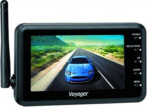 "Voyager WVOM43 Wireless Observation Monitor, Bright 4.3"" Display, Resolution 480 x 234, Brightness 500 cd/m2, Contrast Ratio 500:1, Viewing Angles 120°V/140°H, Built-in Speaker (Renewed)"