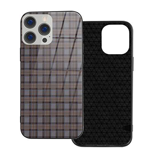 Funda de teléfono compatible con iPhone 12Pro Max-6.7 pulgadas, suave TPU cubierta de protección completa, parte trasera de vidrio templado, Fraser caza, tartán