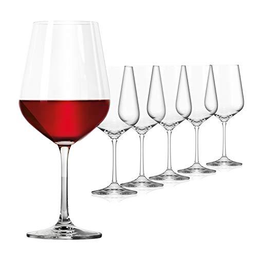 SAHM Weingläser Rotwein Set (6 STK) | 580 ml Rotweingläser | Spülmaschinengeeignet | Langlebiges Weingläser Set Rotwein