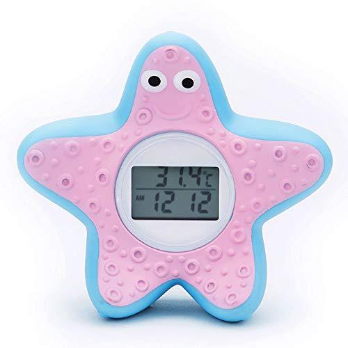 Badethermometer Baby, digitales Wasserthermometer für sicheres Baden, Badwannenspielzeug mit LED Alarm, sicher und umweltfreundlich, Seestern Design (Seestern)