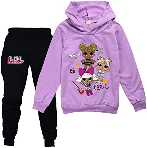 Girls Cloths Sweater and Sweatpants Tracksuit Sets for Toddler Girls Casual Sweatshirt Suit product image