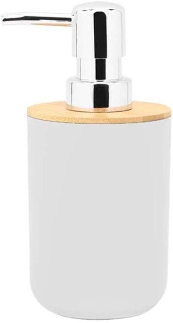 LFchujian 6 Pieces Bamboo Bathroom Accessories Set Toothbrush Holder Stylish Eco-friendly Bath Accessories Include Soap Dispenser Tooth Mug Toilet Brush /& Soap Dish-Black 4l Trash Bin