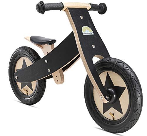 BIKESTAR Bicicletta Senza Pedali cresce con Il bamino (2 in 1) Legno per Bambino et Bambina da 2 Anni  Bici Senza Pedali Bambini 12 Pollici  Nero 2018