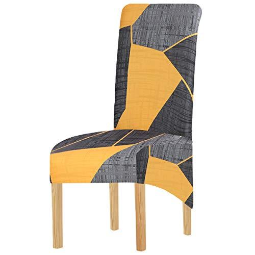 Elastische Spandex-Stuhlhussen in XL-Größe für Esszimmerstühle, geometrische Streifen, Stretch, abnehmbar, waschbar, kurz, Schonbezug für Küche, Bar, Hotel und Hochzeit (Multi3, 4 Stück)