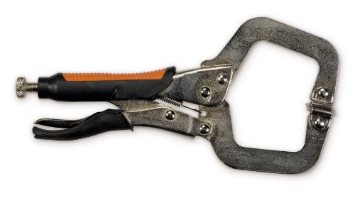 Hobart 770561 Locking C-Clamp Pliers with Rubber Grip, 11-Inch