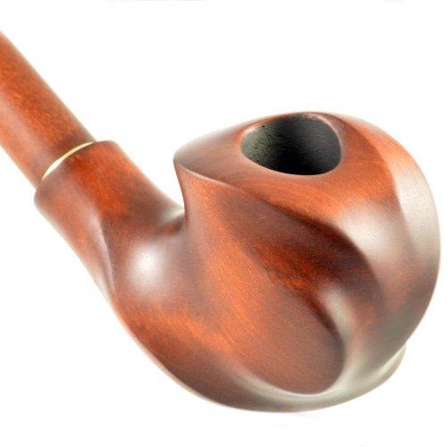 9mmフィルター用 18cmロング手彫りユニーク梨木製喫煙パイプ