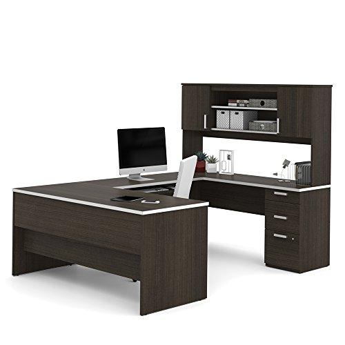Bestar Modern Executive Desk With Hutch