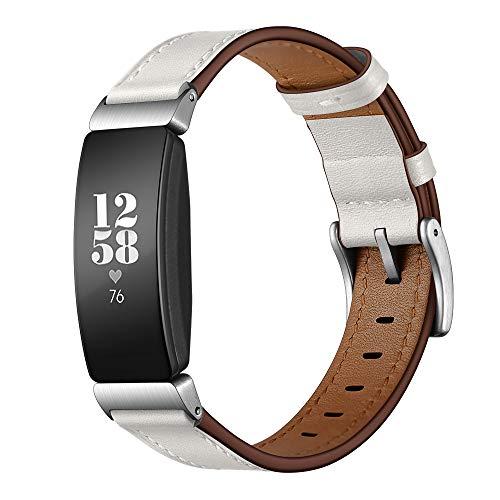 Elobeth Fitbit Inspire & Inspire HR Genuine Leather Strap