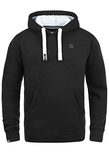 !Solid BennHood Pile Herren Kapuzenpullover Hoodie Sweatshirt Mit Teddy-Futter, Größe:XL, Farbe:Black Pil (P9000)