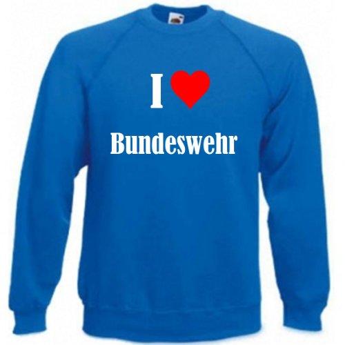 Reifen-Markt Sweatshirt I Love Bundeswehr Größe 2XL Farbe Blau Druck Weiss