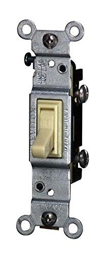 Leviton CO/ALR 15 amps Toggle Switch Ivory 1 pk
