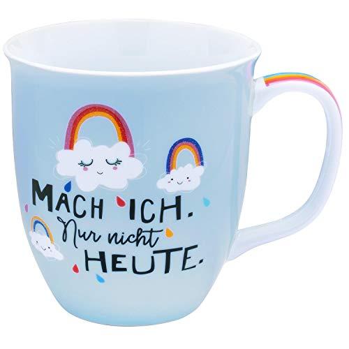 H:)PPY life 46405 Tasse mit Design Regenbogen, Geschenk, Porzellan, 40 cl