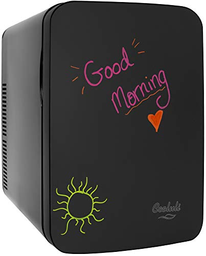 Cooluli Vibe Blackboard 15 Liter Compact Cooler Warmer Thermoelectric Mini Fridge for Bedroom, Office, Car, Dorm, Kids, Cosmetics - Portable Can Cooler, Skincare Fridge