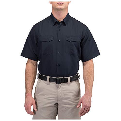 5.11 Tactical Fast-Tac T-Shirt à Manches Courtes Bleu Marine foncé Taille XL