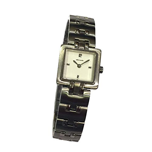Pierre Cardin PC314 Reloj de Mujer Cuadrado con Caja y Cadena de Acero