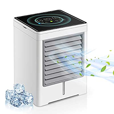 Portable Air Conditioner, Personal Air Cooler - 3 in 1 Mini USB Air Conditioner, Humidifier, 3 Speeds Mini Air Conditioner Fan with Timing Function for Home Room Office