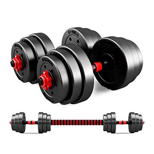 Juego de Mancuernas 2 en 1 con Barra Ajustable (50 kg Peso Total) | Equipamiento Fitness para Entrenar en casa