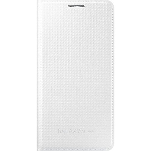 Samsung EF-FG850BWEGWW Galaxy Alpha Flip Case für Smartphone weiß
