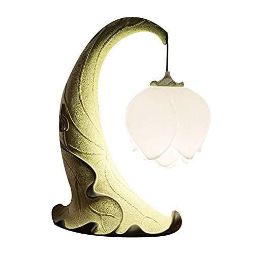 Lámpara de mesa Lámparas de escritorio Lotus Retro Lámpara de mesa Dormitorio Escritorio de la cama Lámpara para la personalidad Altura de la sala de estar de 19.6 pulgadas Lámparas de mesa Lámpara de