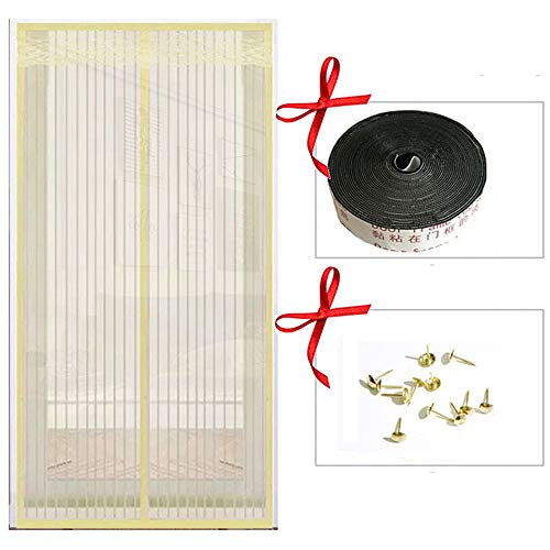 Mosquito Magnetische deur, muggengordijn, muggengaas magnetisch, 100 x 210 cm, voor deuren en ramen, anti-muggengaas 90*210cm B