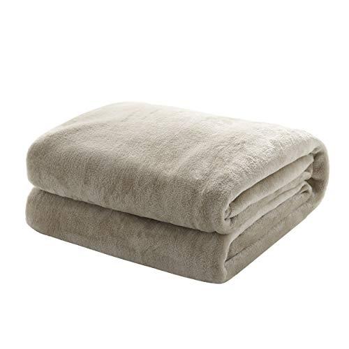 Mixibaby Kuscheldecke Flauschige extra weich & warm Wohndecke Flanell Fleecedecke, Falten beständig/Anti-verfärben als Sofadecke oder Bettüberwurf, Größe:150 cm x 200 cm, Farbe:Grau