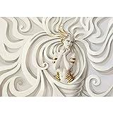 Fototapete 350x245 cm - ALLE TOPSELLER auf einen Blick ! Vlies PREMIUM PLUS - A PERFECT WOMAN - Frau Erotik Gold elegant 3D Wand - no. 045