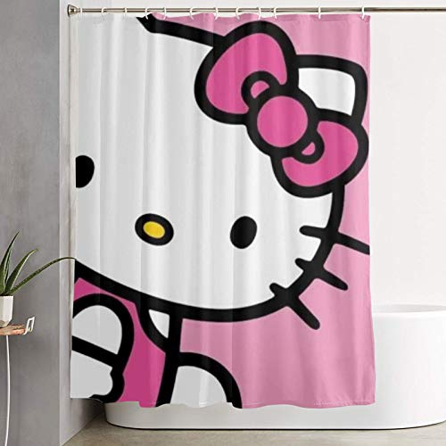 WSXEDC Shower Curtain Hello Kitty Waterproof Curtain 60 X 72 Inches