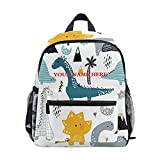 Custom Kid's Toddler Backpack, Personalized Backpack with Name Customization Dinosaur Lions School Bookbags