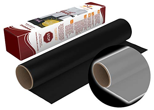 Firefly Craft Reflective Black Heat Transfer Vinyl Sheet | Reflecting Black HTV Vinyl | Iron On Vinyl for Cricut and Silhouette | Heat Press Vinyl for Shirts - 12 x 20
