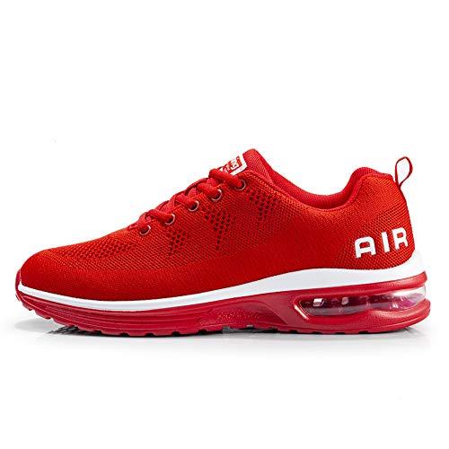 TORISKY Sportschuhe Herren Damen GolfschuheTurnschuhe Laufschuhe mit Luftpolster Sneaker Air Schuhe Leichte(A35-Red39)