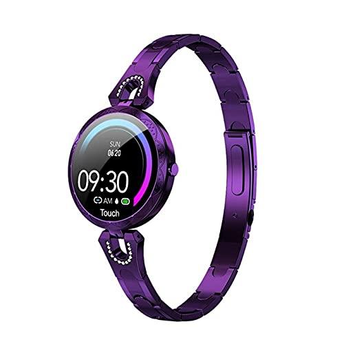 L.B.S Reloj Inteligente de Regalo de Moda 2021 para Mujer, Dispositivo portátil Resistente al Agua, Monitor de Ritmo cardíaco, Reloj Inteligente Deportivo, Modelo Femenino AK15 para Android iOS(B)