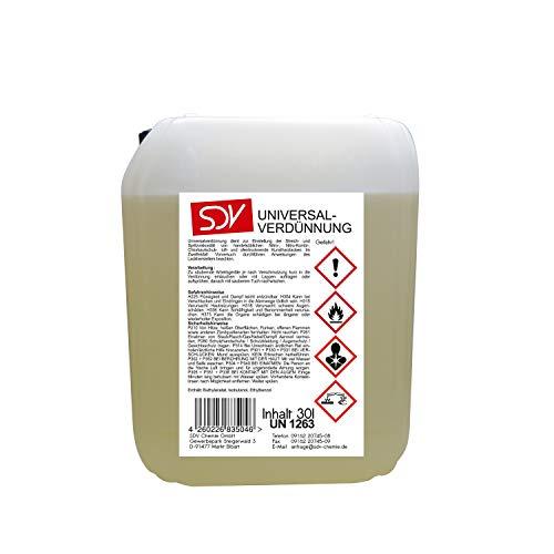 SDV Chemie Universalverdünnung 1x 30 Liter 30L Nitroverdünnung Waschverdünnung Lackverdünner