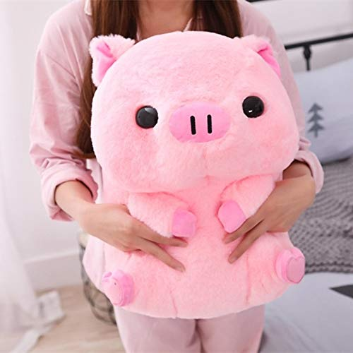 Ycco 40cm Lovely Fat Round Pig Plush Toys Funny Pillow Plushie Stuffed Cushion Cute Animals Dolls Baby Piggy Kids Appease Pillow Pink Doll Decompression Toys for Boys Girls Birthday