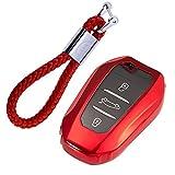 kaser Funda de Silicona para Llave Peugeot Citroen Keyless – Cover Carcasa de TPU Cromo Suave para Peugeot 3008 5008 Citroen DS Protección Llaveros Mando a Distancia (Rojo)