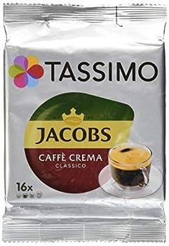 Tassimo Jacobs Caffè Crema Classico Coffee with Fine Cream 16 T-Discs
