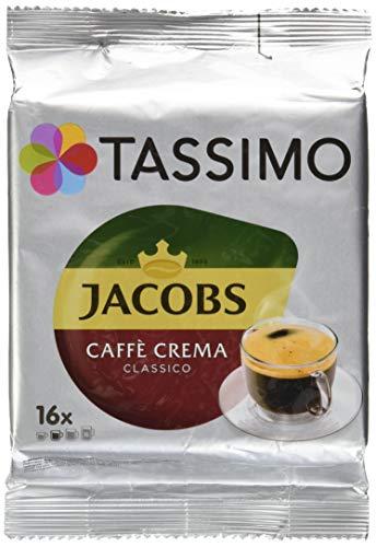 Tassimo Jacobs Caffè Crema Classico, Coffee with Fine Cream, 16 T-Discs