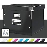 Leitz 60460095 Click & Store - Caja de almacenamiento para carpetas colgantes, color negro